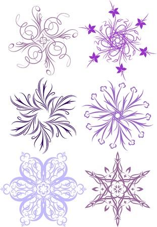 sopel lodu: Kolekcja kwiatowe płatki śniegu. Wiele podobnych obrazów w mojej galerii.
