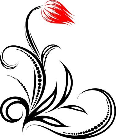 Floral corner. Vector illustration.  Vector