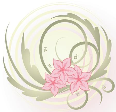 floral design element.  Vector