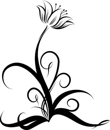 antique jewelry: abstract flower  Illustration