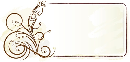 花とエレガントなフレーム。ベクトル