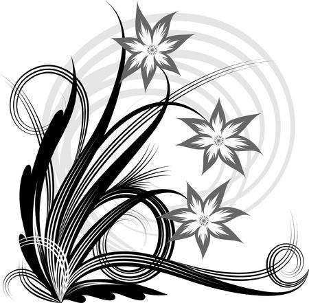 Floral corner. Vector illustration. Stock Vector - 10707078