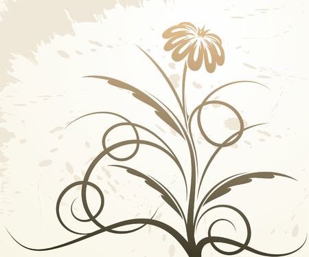 Beautiful floral decor.  Vector