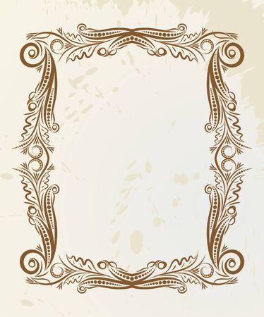 Retro frame. Stock Vector - 10707482