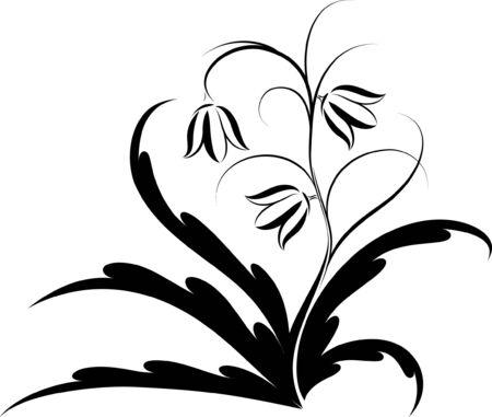 antique jewelry: floral design  Illustration