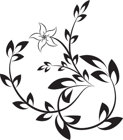 Decorative branch.  Vector