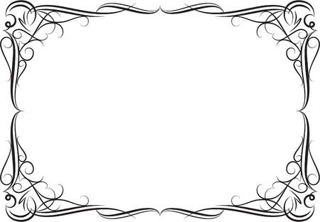 gothic design: Elegant decorative frame. Illustration