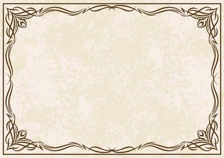 certificate frame: Elegant vintage background.  Illustration