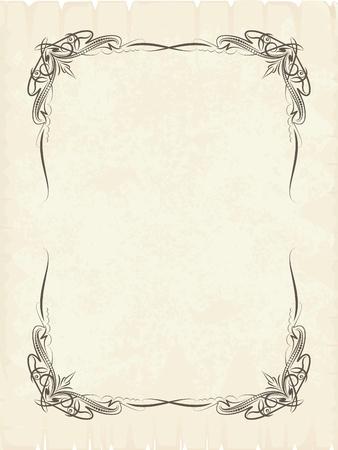 cartouche: Elegant vintage background.  Illustration