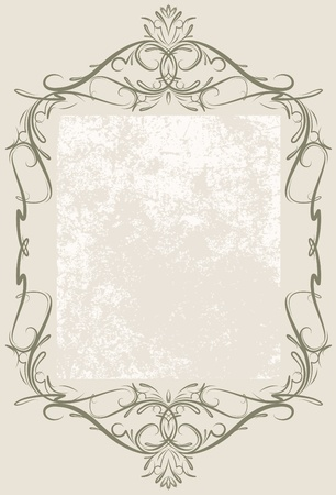 wine book: Decorative vintage frame.  Illustration