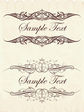 victorian style: Vintage frames for text