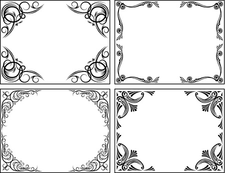 accent: Collection of decorative frames