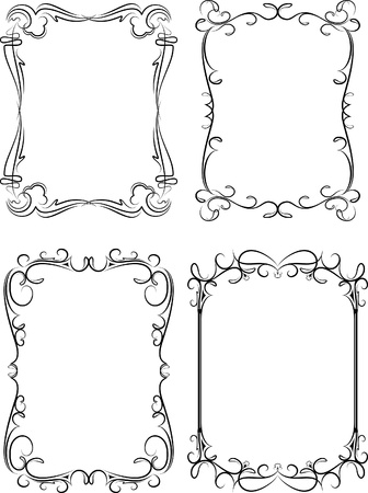 Collection of decorative frames Vector