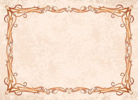 filigree: Retro-styled frame. Lot of similar images in my gallery.