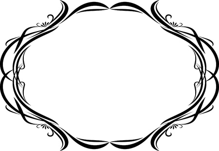 Elegant oval frame Stock Vector - 10707126