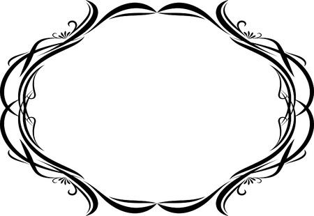 Elegante marco oval