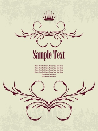 Vintage frame with crown Stock Vector - 10708749