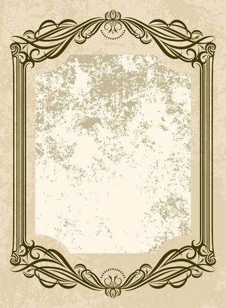 wine  shabby: Elegant vintage frame
