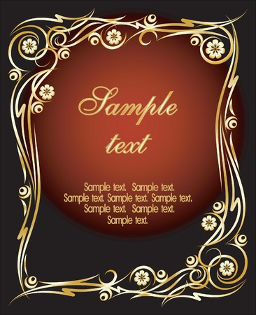 gold vector frame