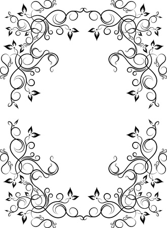forging: Elegant decorative frame. Illustration