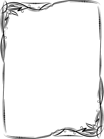threadbare: Elegant decorative frame. Illustration