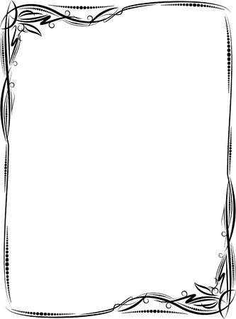 grens: Elegant sierlijst. Stock Illustratie