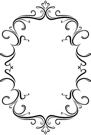 Elegante cornice decorativa.