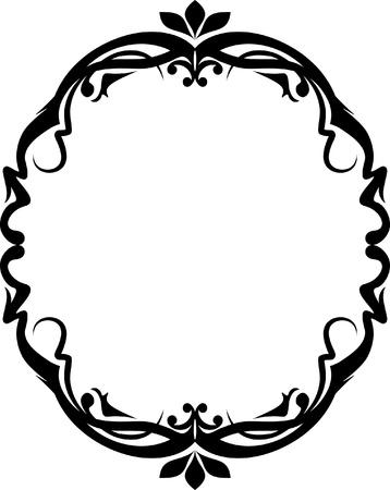 Marco ovalado elegante