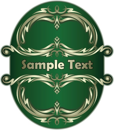 Green label.  Vector