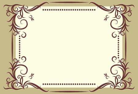 menu card design: Vintage vector background.  Illustration