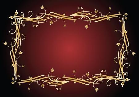 revival: gold vector frame