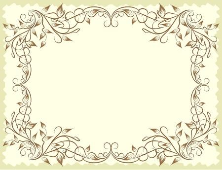 tendril: Elegant vintage background.  Illustration