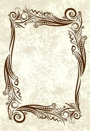 cartouche: Decorative vintage frame.  Illustration