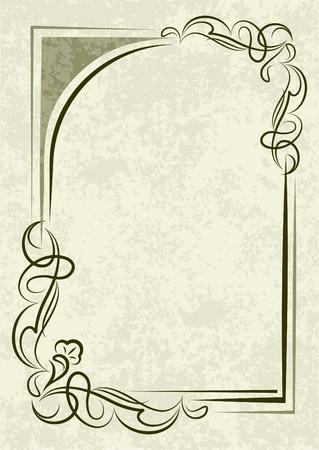 Elegant green background  Illustration