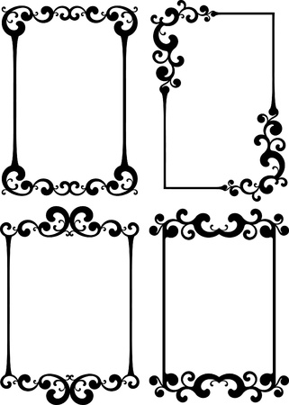 Collection of decorative frames Stock Vector - 10707212