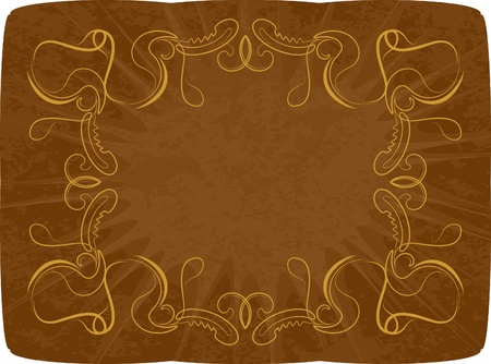 Abstract background with golden pattern  Vector