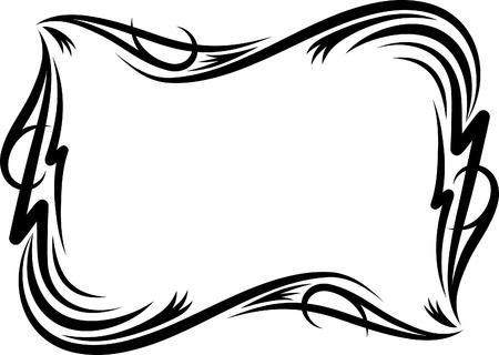 filigree swirl: Elegant decorative frame. Illustration