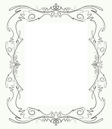 threadbare: Elegante cornice decorativa. Vettoriali
