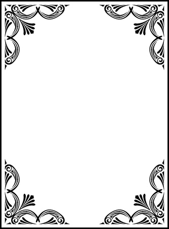 Elegant decorative frame. Illustration