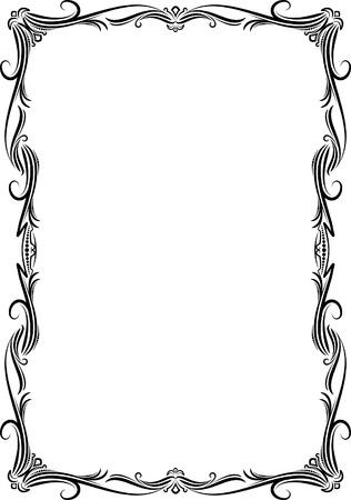 decorative style: Elegant decorative frame. Illustration