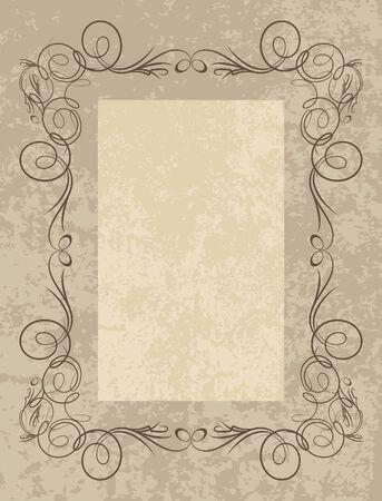 Decorative vintage frame.  Stock Vector - 10709108
