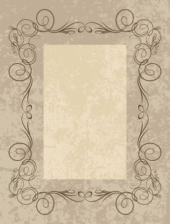 Decorative vintage frame.  Vector