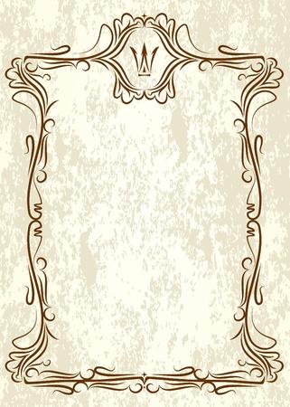crown silhouette: Telaio d'epoca con corona