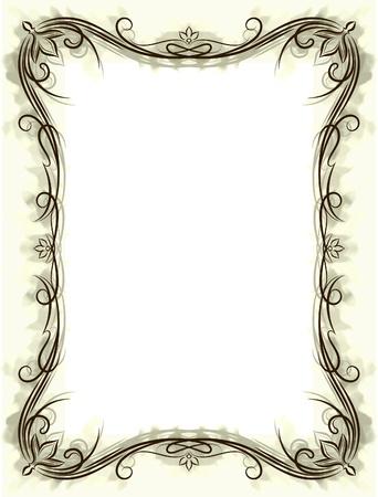 border frame: Retro styled vector background.  Illustration