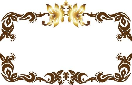 cartouche: Decorative frame.  Illustration