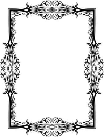 wine  shabby: Elegant decorative frame. Illustration