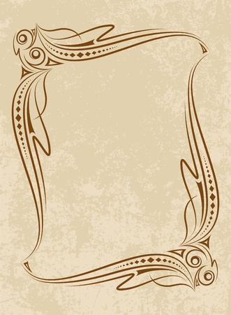 tendril: Elegant vintage frame