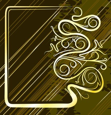 decorative gold background for text  Vector