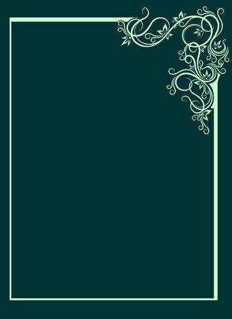 Elegant green background  Vector