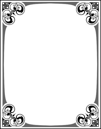 Elegant decorative frame. Stock Vector - 10707284